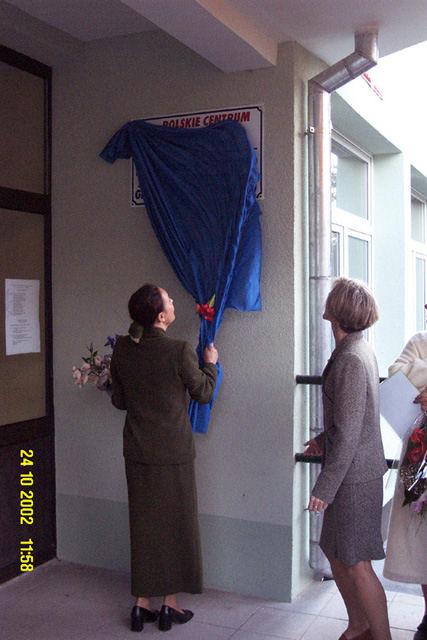 Odsłonięcie tablicy Oddziału PCO w Kwidzynie